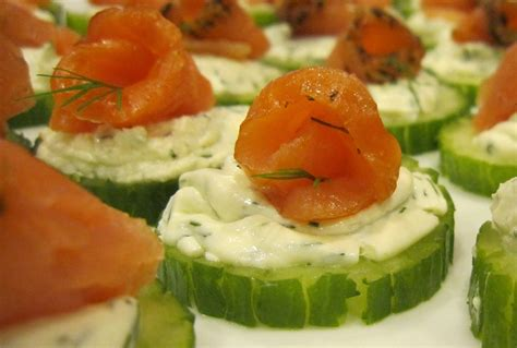 salmon canapes smoked salmon cucumber canapes