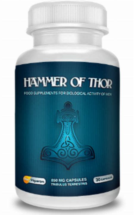 imported hammer of thor capsule made in uk nutrition