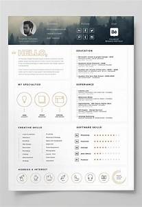 7 free editable minimalist resume cv in adobe illustrator With free resume templates adobe illustrator