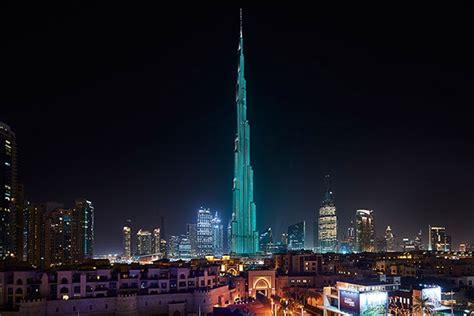 Tiffany Lights Burj Khalifa In Blue