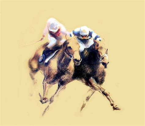 finish limited edition horse racing print