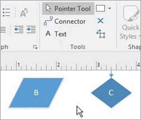 Add Connectors Between Shapes Visio