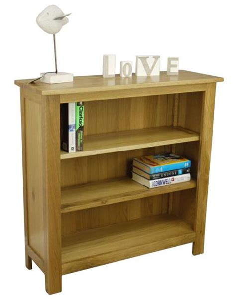 Chunky Bookcase by Buy Oakland Chunky Low Wide Oak Bookcase From Our