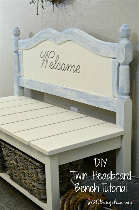 headboard bench ideas  projects  repurposed life