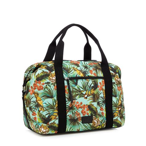 designer weekend bags h by henry womens designer green parrot print