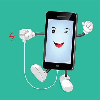 Phone Charger Cell Clip Illustrations Vector Mobile