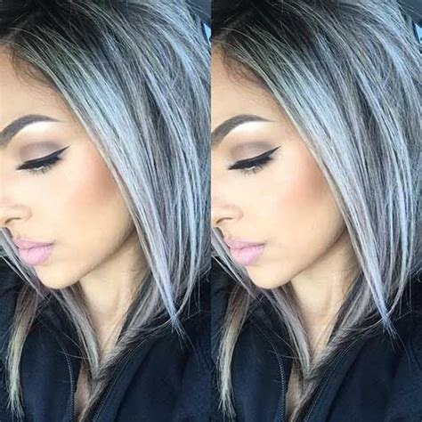 25 New Gray Hair Color In 2019 Silver Ombre Hair Grey