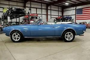 1967 Chevrolet Camaro 38091 Miles Blue Convertible 327ci
