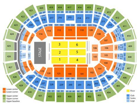 verizon center seating chart   washington dc