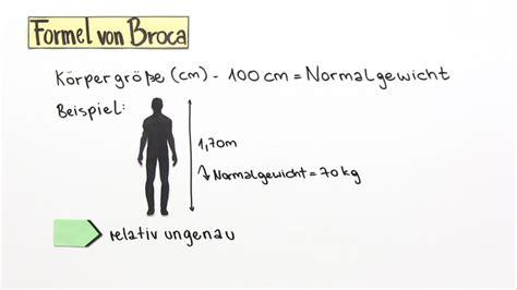 koerpermasse beurteilen bmi und broca biologie
