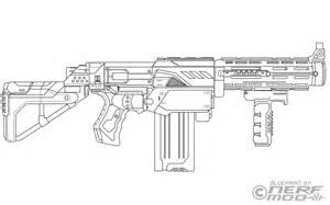 Nerf Gun Free Coloring Pages