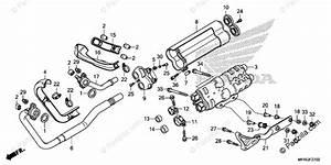 Honda Motorcycle 2018 Oem Parts Diagram For Exhaust
