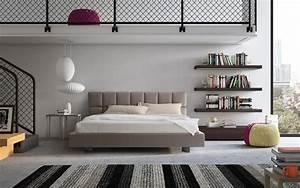 Kopfteil Für Bett : mit gepolstertem kopfteil und funktionelle f r die moderne schlafzimmer bett idfdesign ~ Sanjose-hotels-ca.com Haus und Dekorationen