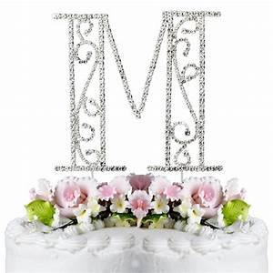 romanesque swarovski crystal wedding cake topper letter m With letter m wedding cake topper
