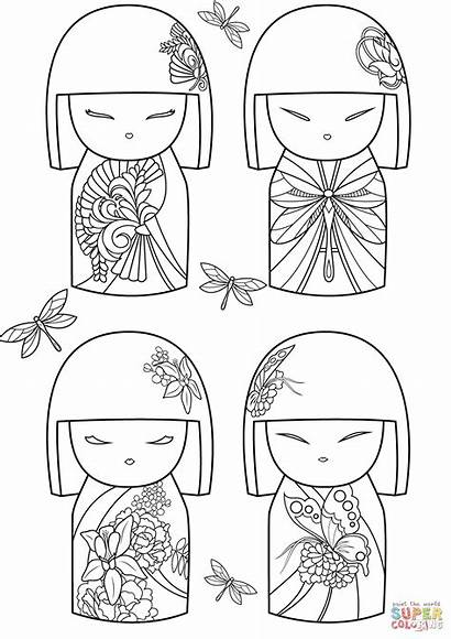 Coloring Dolls Kimmi Pages Doll Japanese Japan