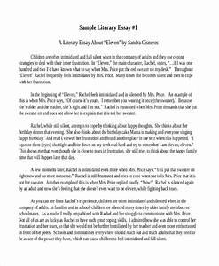 Literary Critical Analysis Essay Example
