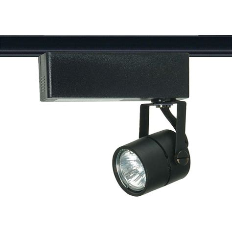 glomar 1 light mr16 12 volt black track lighting