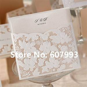 aliexpresscom buy laser cut flower lace pocket wedding With lace wedding invitations for sale