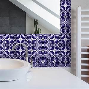 Stickers Carreaux De Ciment : 9 stickers carreaux de ciment azulejos gracia salle de ~ Premium-room.com Idées de Décoration