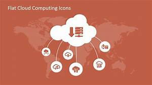 Flat Cloud Computing Powerpoint Icons