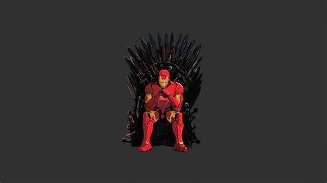 wallpaper iron man game  thrones iron throne