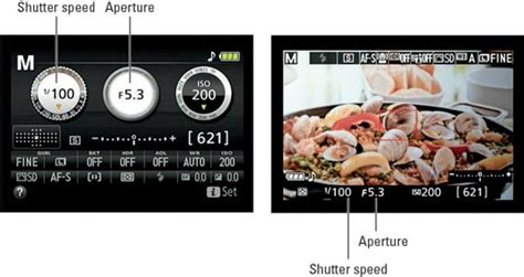 adjust aperture  shutter speed   nikon