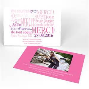 cartes fã licitations mariage carte de remerciement jeu de mots mariage rectangle simple