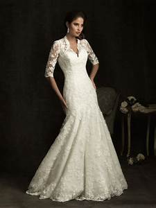 wedding dress business wedding dress with v neck With 3 4 sleeve wedding dress