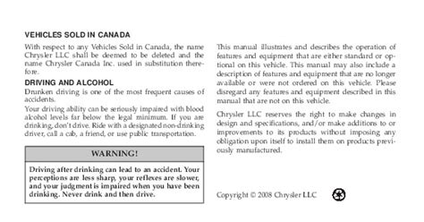 2009 Chrysler Town And Country Owners Manual by 2009 Chrysler Town Country Owners Manual