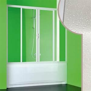 paroi douche pare baignoire 160cm en pvc crilex acrylique With porte douche acrylique