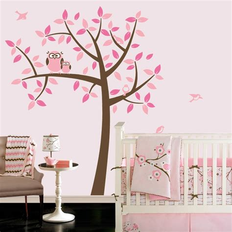 stickers repositionnables chambre bébé owl tree baby owl nursery theme nursery wall