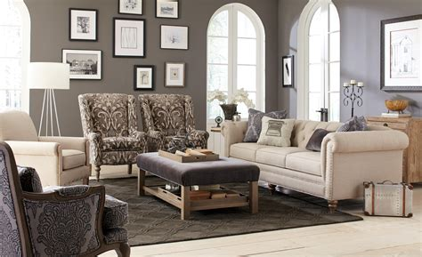 craftmaster sofa in emotion beige craftmaster large sofa with vintage tack nailheads