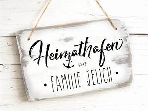Geschenke Für Schwiegereltern : gift moving new home family name front door sign maritime ~ A.2002-acura-tl-radio.info Haus und Dekorationen