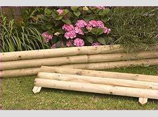 Wood Landscape Edging Raised Flower Bed Along Fence Garden