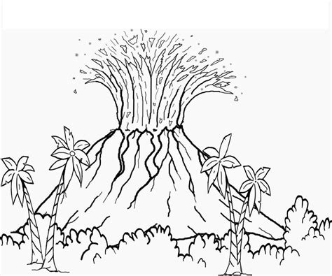 volcano coloring pictures
