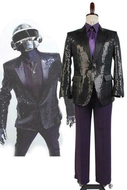 Daft Punk Sparking Black Sequin Performance Outfit Robot ...