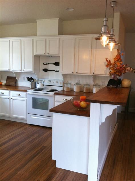 Butcher Block Peninsula  Woodworking Projects & Plans