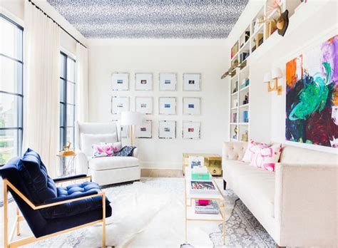 appealing living rooms  gold  navy accents
