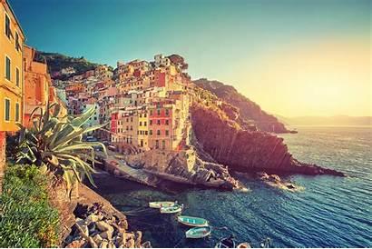 Italy Terre Cinque Landscape Sea Desktop Wallpapers