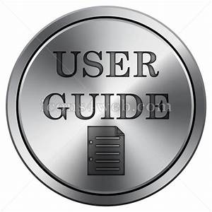 User Guide Icon  Round Icon Imitating Metal