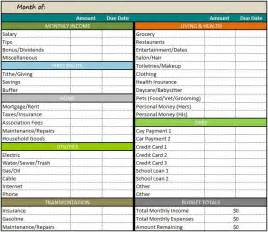 Budgeting Sheets Template Monthly Budget Template Printable Templates Free