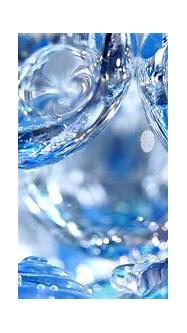 3D blue water drops - HD wallpaper