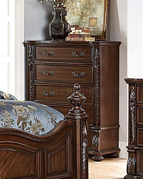 1814 chairs for bedrooms augustine court 1814 bedroom in cherry by homelegance w