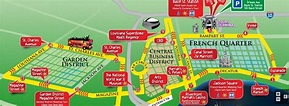 New Orleans Hop on hop off bus map | Tours new orleans ...