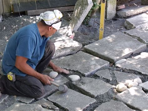 patio using broken concrete the petaluma spectator