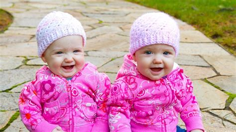 funny twin babies laughing  playing