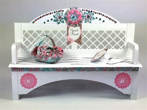 papercraft garden bench  craftwork cards