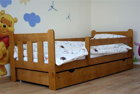 Stanley 140x70 Toddler Bed With Drawer, Color Alder