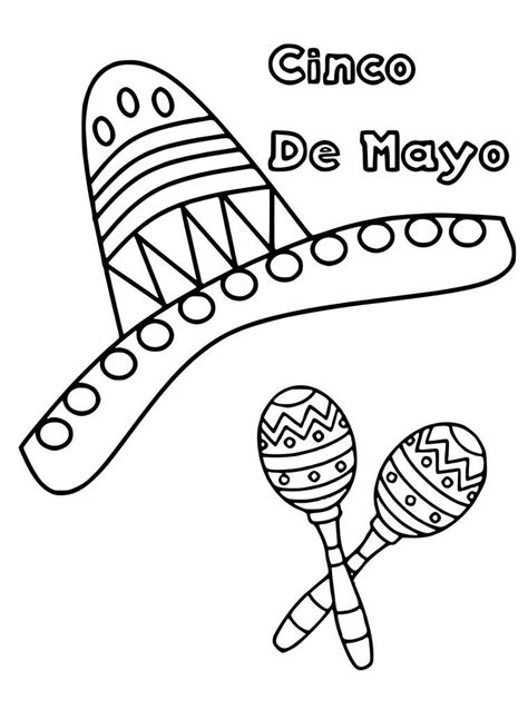 cinco de mayo coloring pages  coloring pages  kids