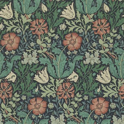 contemporary curtain fabrics compton wallpaper indigo russet 210421 william
